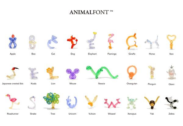 animal-font-a-z