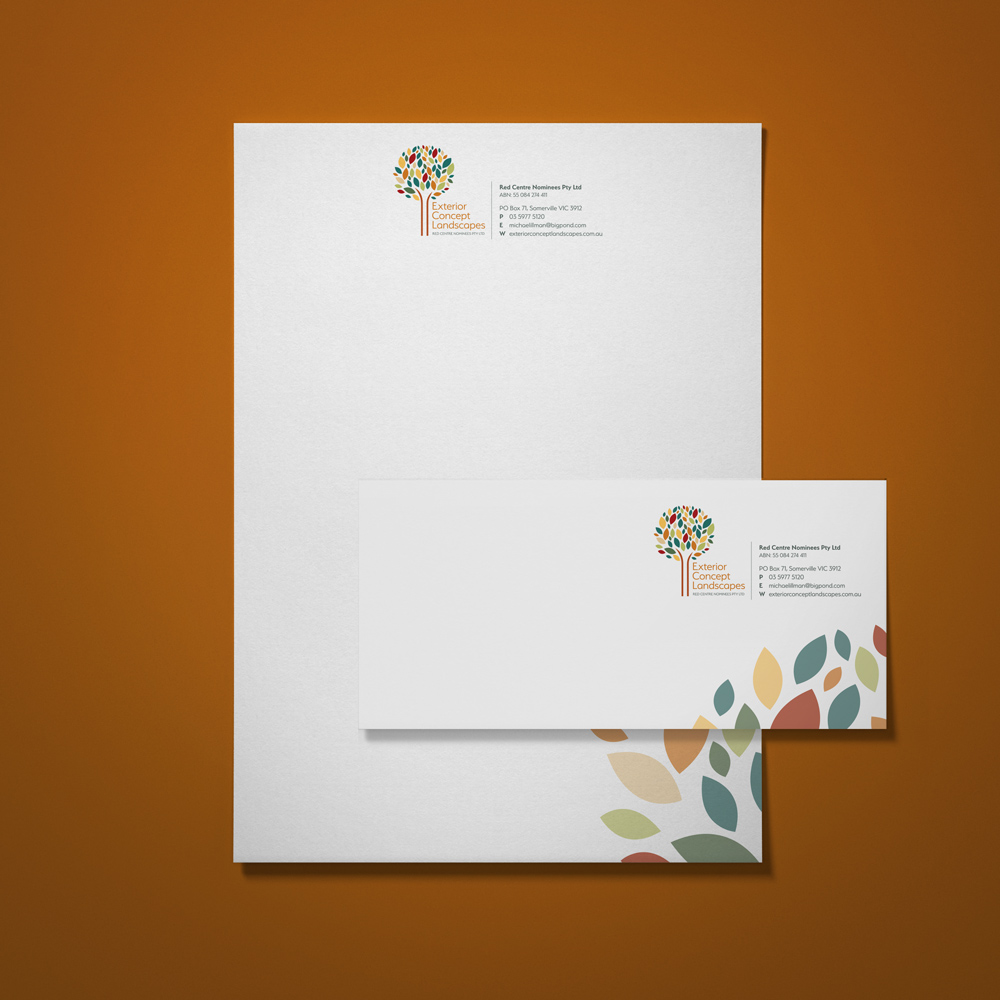 Letterhead and with compliments design