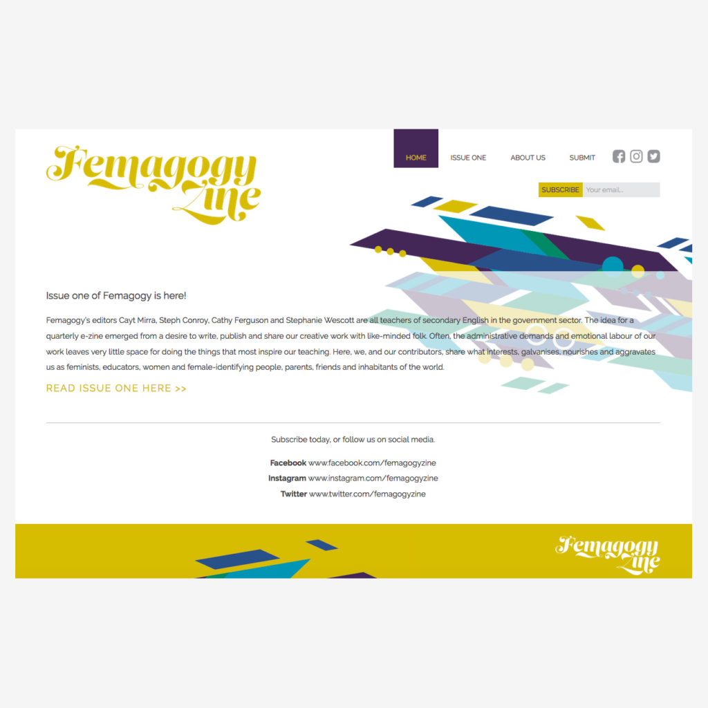 Website Design for Femagogy Zine
