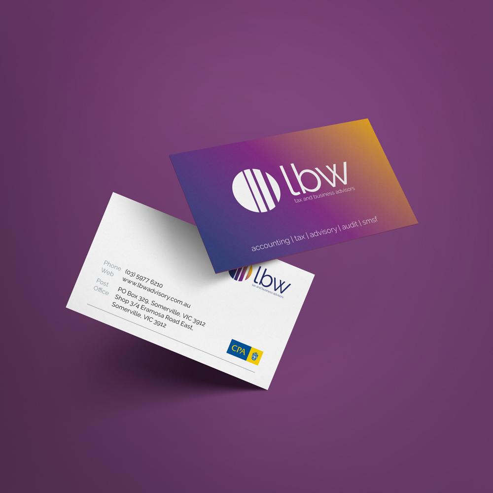 LBW Advisory Business Card Design
