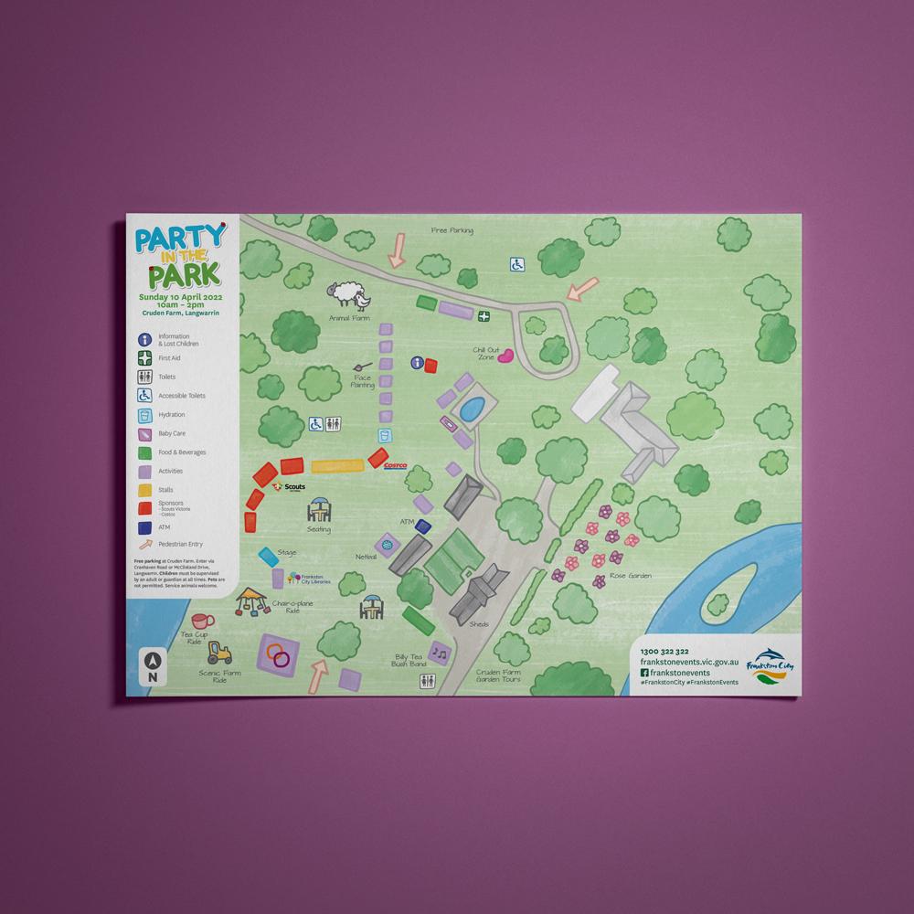 Event Map and Signage Design Mornington Peninsula
