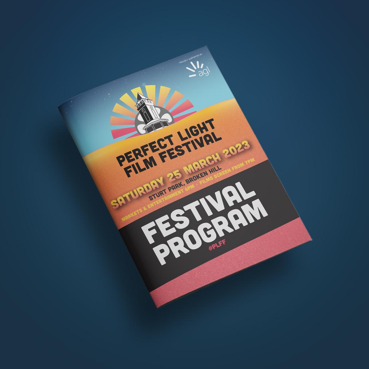 Cover of program booklet design