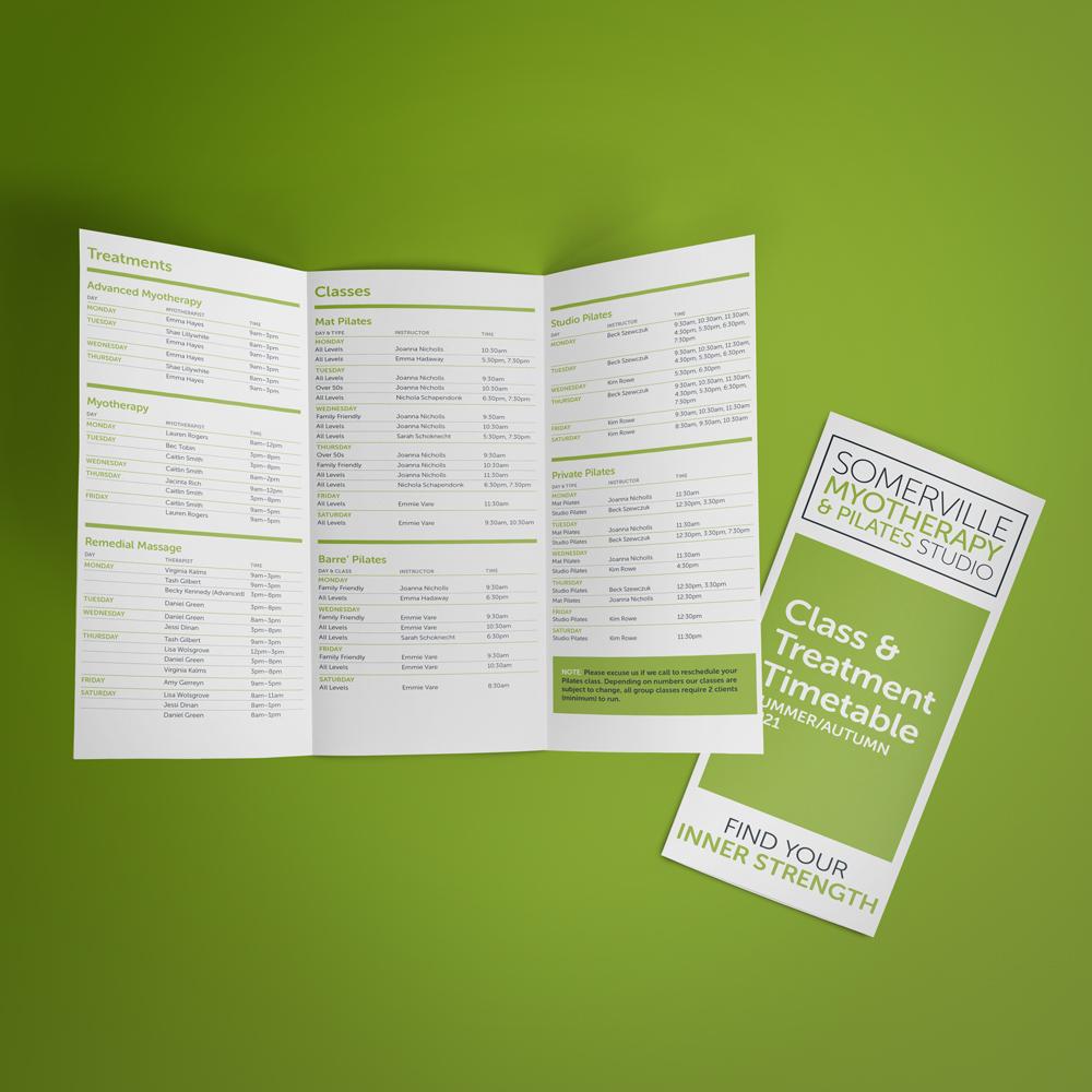 DL folded brochure